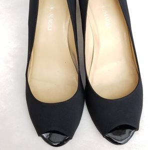 Bruno Magli Women Satin Black  Pumps Size 8.5B